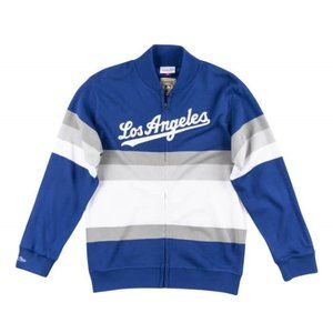 Mitchell & Ness LA Dodger Front Stripe Sweater - L